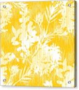 Botanical Silhouette Pattern Seamless Acrylic Print