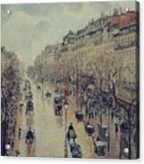 Boulevard Montmartre - Afternoon, In The Rain, 1897 Acrylic Print