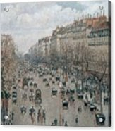 Boulevard Montmartre - Afternoon, Sunlight, 1897 Acrylic Print