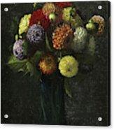 Bouquet Of Dahlias Acrylic Print