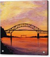 Bourne Bridge Sunset Acrylic Print