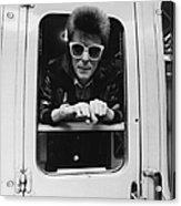 Bowie On The Rails Acrylic Print