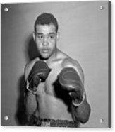 Boxer Joe Louis Wearing Boxing Gloves Acrylic Print