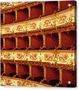 Boxes Of Italian Antique Theater Acrylic Print