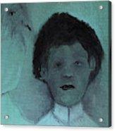 Boy With A Bird Acrylic Print