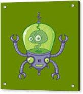 Brainbot Robot With Brain Acrylic Print