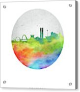 Brasilia Skyline Cityscape Brbr20 Acrylic Print