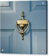 Brass Door Knocker On Front Door Acrylic Print