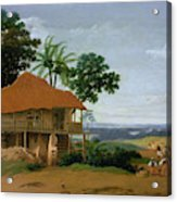 Brazilian Landscape With A Worker   S House  Acrylic Print