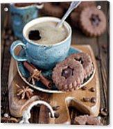 Breakfast Coffee And Chocolate Cookies Acrylic Print