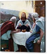 Breaking Of Bread At Emmaus, 1926 Acrylic Print