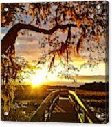 Breaking Sunset Acrylic Print