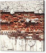 Brick Wall Falling Apart Acrylic Print