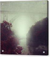 Bridge And River In Fog Acrylic Print