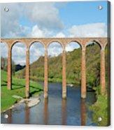 bridge over river Tweed near Melrose towards Gattonside Acrylic Print