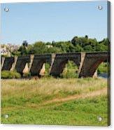 bridge over river Tyne at Corbridge in summer Acrylic Print