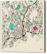 Bridgeport, United States City Map Acrylic Print