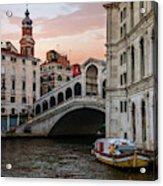 Bridges Of Venice - Rialto Acrylic Print