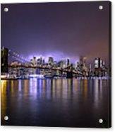 Bright Lights Of New York II Acrylic Print