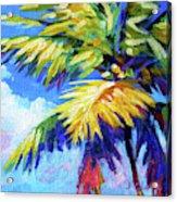 Bright Palm Square Acrylic Print