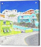 Bright Parish Life Bermuda Acrylic Print