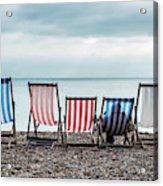 Brighton Beach Chairs Acrylic Print