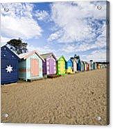 Brighton Beach Huts Acrylic Print