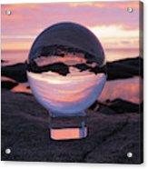 Brighton Beach Reflections Acrylic Print