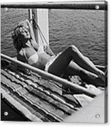 Brigitte Bardot Sur Le Tournage De Vie Acrylic Print