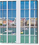Brilliant Bermuda Cityscape Windows Acrylic Print