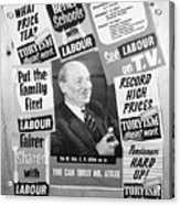 British Labour Party Election Posters Acrylic Print