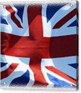 British Union Jack Flag T-shirt Acrylic Print