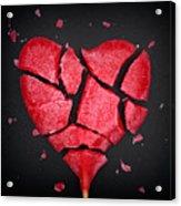 Broken Red Heart Shaped Lollipop Acrylic Print