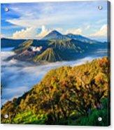 Bromo Volcano At Sunrise,tengger Semeru Acrylic Print