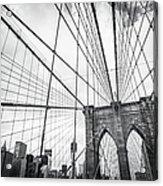 Brooklyn Bridge And New York Skyline Acrylic Print