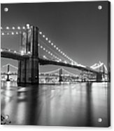 Brooklyn Bridge At Night Acrylic Print