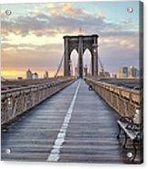 Brooklyn Bridge At Sunrise Acrylic Print