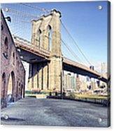 Brooklyn Bridge From Down Under Acrylic Print
