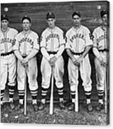 Brooklyn Dodgers Outfielders L. To R Acrylic Print
