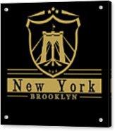 Brooklyn New York Bridge Pride Icon Acrylic Print