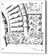 Brownstone Detail, Court House, Helena, Montana. Acrylic Print