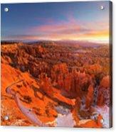 Bryce Canyon National Park At Sunset Acrylic Print