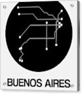 Buenos Aires Black Subway Map Acrylic Print
