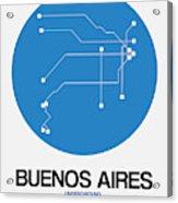 Buenos Aires Blue Subway Map Acrylic Print