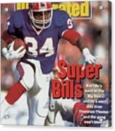 Buffalo Bills Thurman Thomas, 1992 Afc Championship Sports Illustrated Cover Acrylic Print