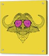Buffalo In Pink Glasses Acrylic Print