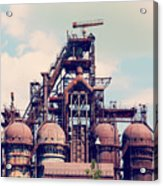 Building A Blast Furnace At The Steel Acrylic Print
