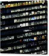 Building At Night In Tokyo Acrylic Print