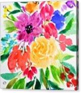 Bunch Of Flowers Acrylic Print