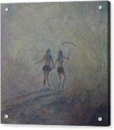 Burning Girls Acrylic Print
